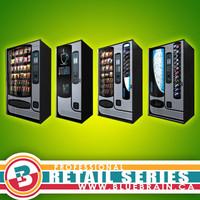 3d model of retail vending machine