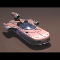 x-34 landspeeder star wars 3d model