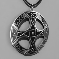 3d model celtic pendant