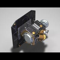 3d nasa deep impact probe