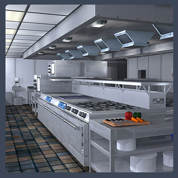 Commercial kitchen max for Model kitchen images
