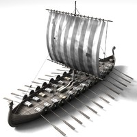 boat viking 3d model