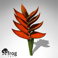 xfrogplants firebird plant bird 3d max