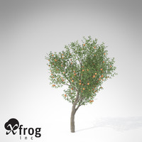 xfrogplants peach tree 3d 3ds