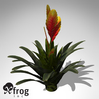 flaming sword plant 3d model