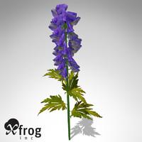 3ds xfrogplants delphinium plant flowers