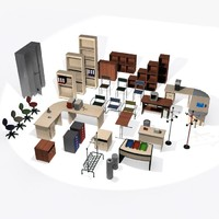 Office Furniture Set Volume 1