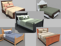 3d set beds bedroom furniture