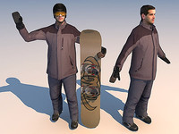 sport 04 character snowboard 3d model
