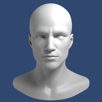 Realistic Male Head 3d Model