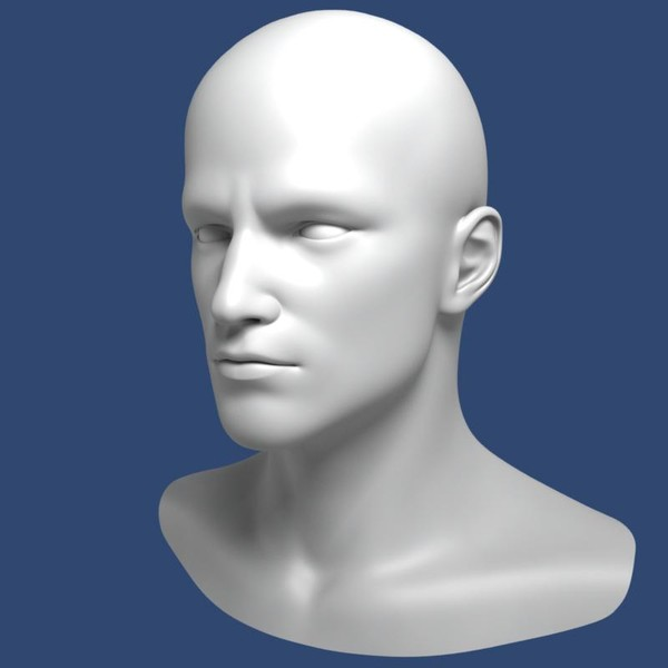 male head 3d model - Realistic Male Head 3d Model... by Bitmapworld