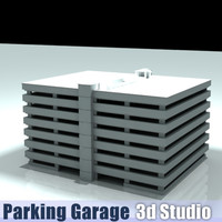 3d model parking structure garage