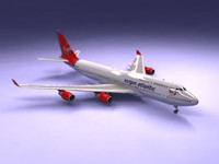 3d 747-400 airliner virgin 747 jumbo model
