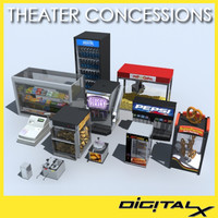 theater concessions 3d max
