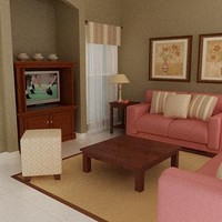 3d sofas tv curtains model