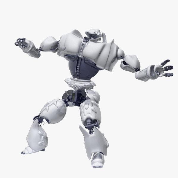 3d robot biped model