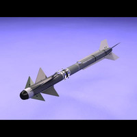 rafael python 5 air missile 3d model