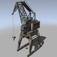 3d crane construction model