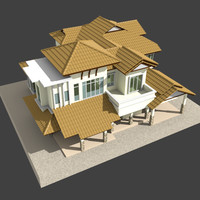 modern bungalow 3d 3ds