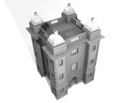 chateau building 3d model