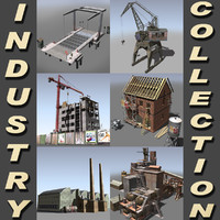 3d construction factory crane