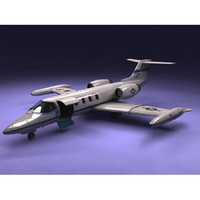 c21a lear jet air force 3d model