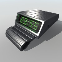 tokyoflash retrofit digital wrist watch 3d model