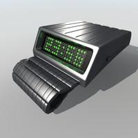 tokyoflash retrofit digital wrist watch 3d model