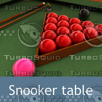 snooker table billiard 3d model