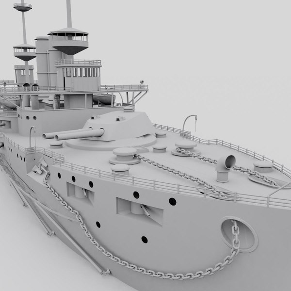 3d hms irresistible model - HMS irresistible (textured)... by gadgetworks