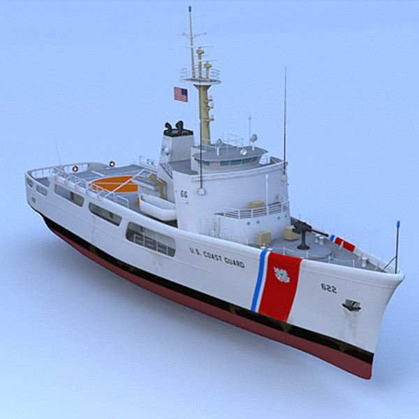 3d model coast guard wmec 210 - US Coast Guard WMEC 210... by PerspectX
