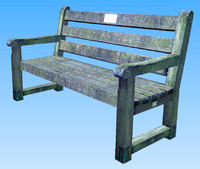Park Bench - Low Polygon