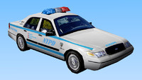3ds nypd police car