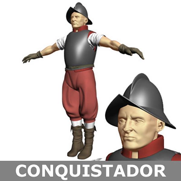 3d conquistador soldier