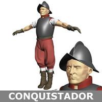 conquistador soldier 3d model