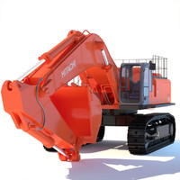 backhoe excavator 3d 3ds
