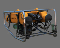 phantom ds4 rov underwater 3d model
