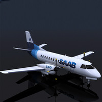 SAAB 340 with 3 liveries