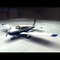piper archer aircraft plane 3d model