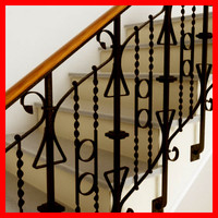 antique stairs 3d 3ds