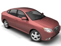2007 hyundai elantra 3d model