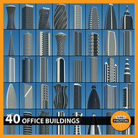 3d office buildings 40