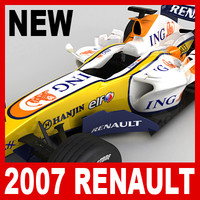 3d 3ds 2007 f1 ing renault r27
