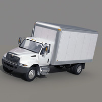 4000 box truck 3d max