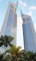 photoreal emirates towers 3d model