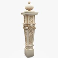 classic column colum exterior 3d model