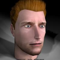 3d model polygonal head professional