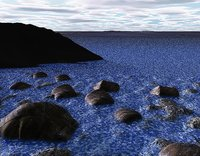 3d model newfoundland water rocks