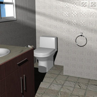 bathroom 3d 3ds