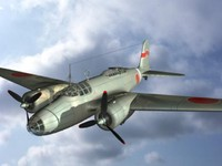 ki-21 bomber aircraft 3d model